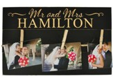 Personalized, Pine Photo Pallet,  Mr and Mrs, Black