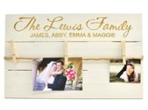 Personalized, Photo Pallet, with Clothespins, Pine White, Family