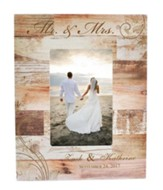 Personalized, 4x6 Photo Frame, Wedding, Light Wood