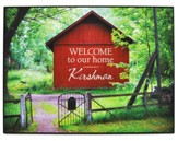 Personalized, Plaque with Barn, Welcome To Our Home,  Large