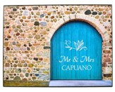 Personalized, Plaque with Bloor Door, Mr and Mrs, Large