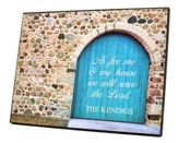 Personalized, Plaque with Blue Door, Large, As For Me  And My House