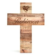 Personalized, Natural Wood Cross, Wedding