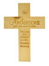 Personalized, Pine Cross, Large, Life's Greatest  Blessing