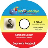 Abraham Lincoln Gettysburg Address Copywork Notebook: With Vocabulary Extensions PDF CD-ROM