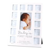 Baby's First Year, Photo Frame, White