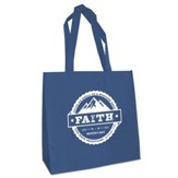 Faith, Eco Tote Bag, Blue