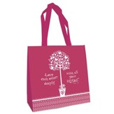 Love Each Other, Eco Tote Bag, Pink