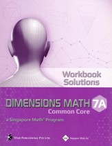Dimensions Math Workbook Solutions  7A