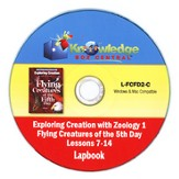 Apologia Exploring Creation with Zoology 1: Flying Creatures  of the 5th Day Lessons 7-14 Lapbook PDF CD-ROM