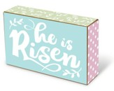 He Is Risen Tabletop Block Décor
