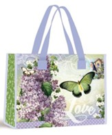 Love, Butterflies, Easter Tote Bag, Lavender