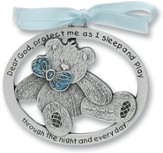 Protect Me While I Sleep Crib Charm, Blue Bear