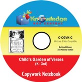 Child's Garden of Verses Copywork Notebook Grades K-3 PDF CD-ROM