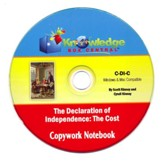 Declaration of Independence Copywork Notebook PDF CD-ROM