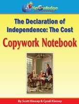 Declaration of Independence Copywork Notebook (Printed Edition)