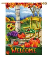 Welcome Porch Flag, Large