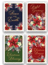 Christmas Poinsettia, Assorted Christmas Cards, Box of 12