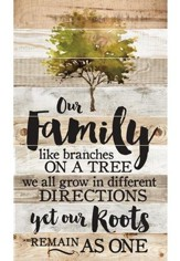 Our Family, Like Branches On A Tree, Barn Board Wall Art