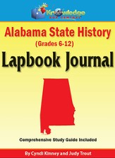 Alabama State History Lapbook Journal (Printed) - Slightly Imperfect
