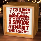 For Unto You Is Born This Day, Light Box