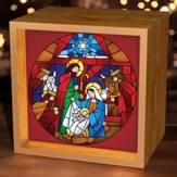 Stained Glass Nativity, Light Box