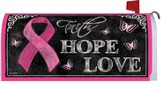 Pink Ribbon, Faith Hope Love Mailbox Cover