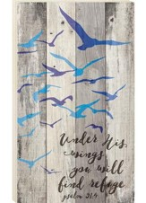 Under His Wings You Will Find Refuge, Pallet Wall Art