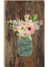 Blessed & Grateful, Pallet Wall Art