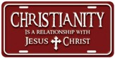 Christianity 2 License Plate