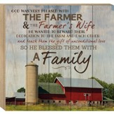 The Farmer and the Farmer's Wife, Boxed Plaque