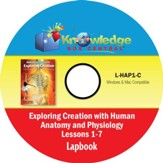 Apologia Exploring Creation with  Human Anatomy & Physiology  Lapbook Lessons 1-7 PDF CD-ROM