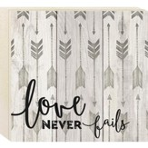 Love Never Fails, Boxed Plaque