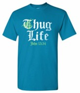 Hug Life Shirt, Turquoise, Medium