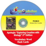 Apologia Exploring Creation With Biology 2nd Edition Vocabulary Word Flash Cards PDF CD-ROM