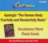 Apologia Human Body Vocabulary Word Flash Cards (Printed)