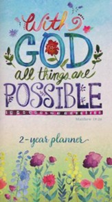 Two-Year Pocket Planner, 2018/2019, With God All Things Are Possible