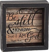 Be Still and Know That I Am God Shadowbox