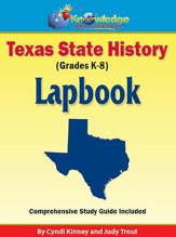 Texas State History Lapbook (Printed)