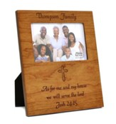 Personalized, Photo Frame, 4x6, As For Me, Cherry