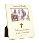 Personalized, Photo Frame, 4x6, As For Me, White