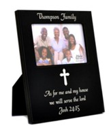 Personalized, Photo Frame, 4x6, As For Me, Black