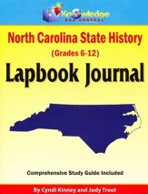 North Carolina State History Lapbook Journal (Printed)
