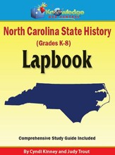 North Carolina State History Lapbook  (Printed)