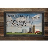 God Made A Farmer, Pallet Framed Art