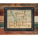 Great Is Thy Faithfulness, Pallet Framed Art