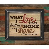 What I Love Most About My Home, Pallet Framed Art