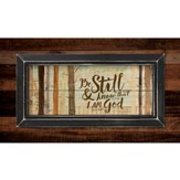 Be Still & Know That I Am God, Pallet Framed Art
