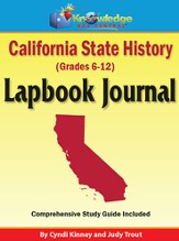 California State History Lapbook  Journal (Printed) - Slightly Imperfect