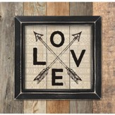Love, Framed Pallet Art